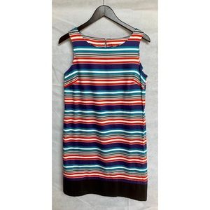 Ann Taylor LOFT Multicolored Striped Shift Dress